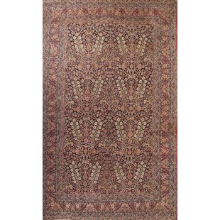 One-of-a-Kind Mckeel Traditions Kerman Lavar Persian Hand-Knotted 11'10 x 19'1 Wool Beige/Red Area Rug by Isabelline