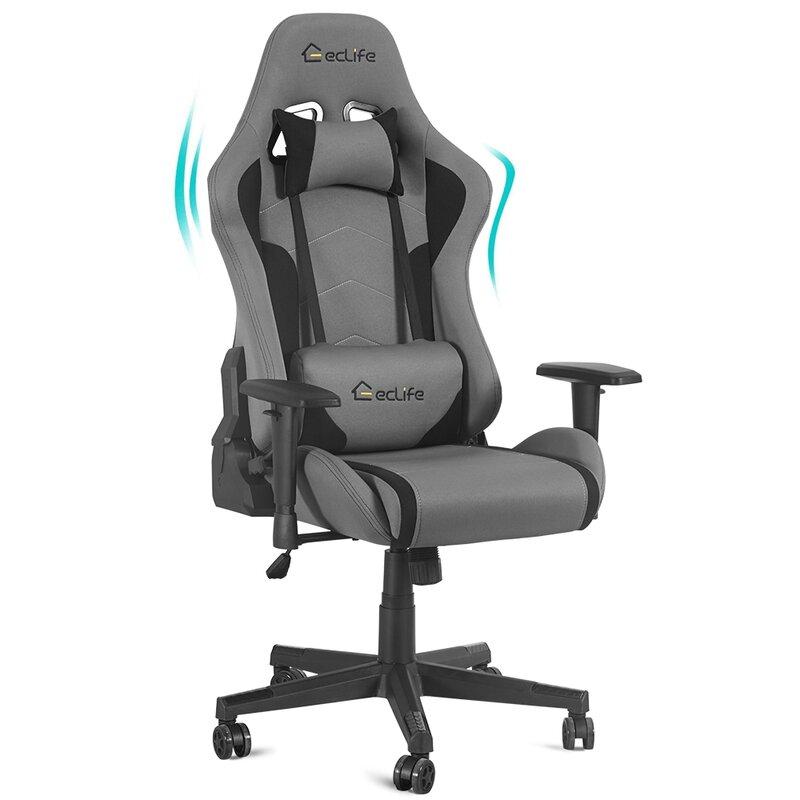 Lintoson Ergonomic Gaming Chair Home Office Chair With Massage Lumbar Support Wayfair