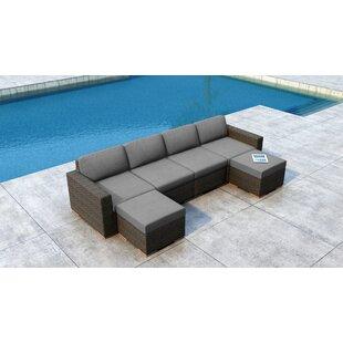 Glen Ellyn 6 Piece Sectional Set with Sunbrella Cushion
