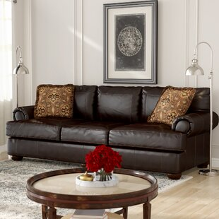 Stewartsville Leather Sofa by Fleur De Lis Living Best