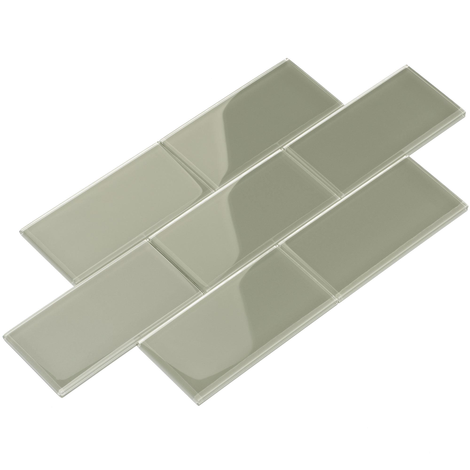 Giorbello 3 X 6 Glass Subway Tile In Light Gray Reviews Wayfair