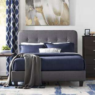 Heredia Upholstered Platform Bed by Wrought Studio