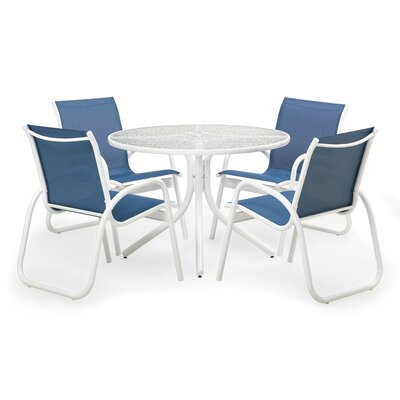 Maust 5 Piece Dining Set With Cushions by Latitude Run Today Sale Only