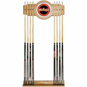 Budweiser Billiard Cue Rack in Red / Black