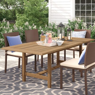 Brighton Extendable Teak Den Dining Table by Sol 72 Outdoor 2020 Sale