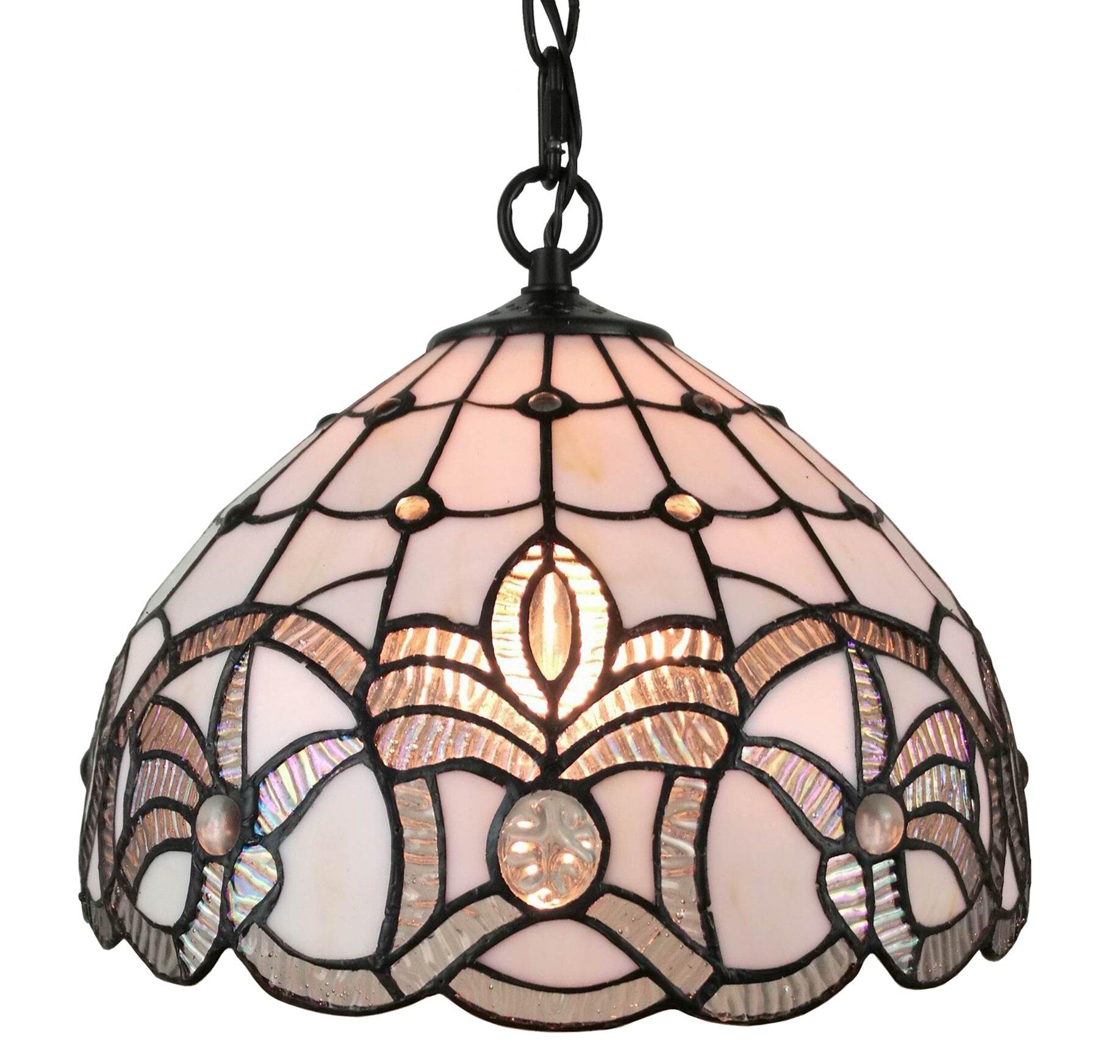 Tiffany style 1 light inverted pendant