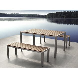Wade Logan Castilleja 3 Piece Dining Set