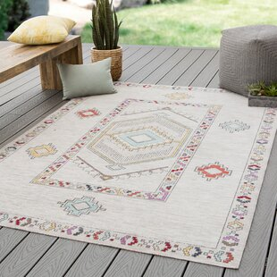 Old Lyme Medallion Ivory Indoor/Outdoor Area Rug