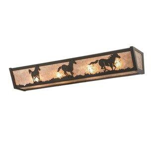Wild Horses 4-Light Bath Bar