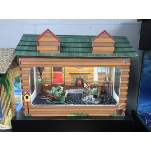 10 Gallon Log Cabin Aquarium Tank Cover