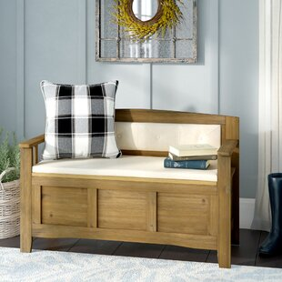 Armina Wood Storage Bench by Gracie Oaks