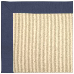 Lisle Machine Tufted Blue/Beige Indoor/Outdoor Area Rug