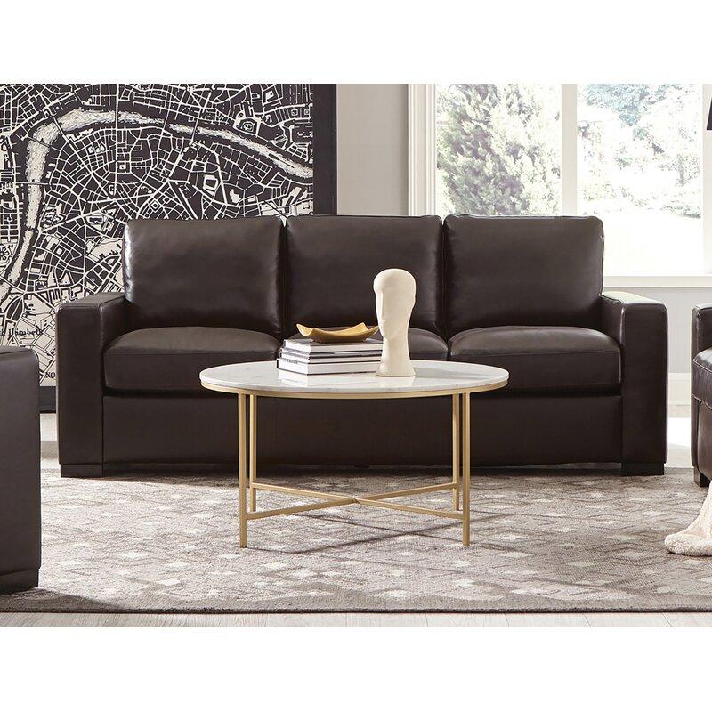 Latitude Run Eithyn 84 Wide Leather Match Square Arm Reclining Sofa Wayfair
