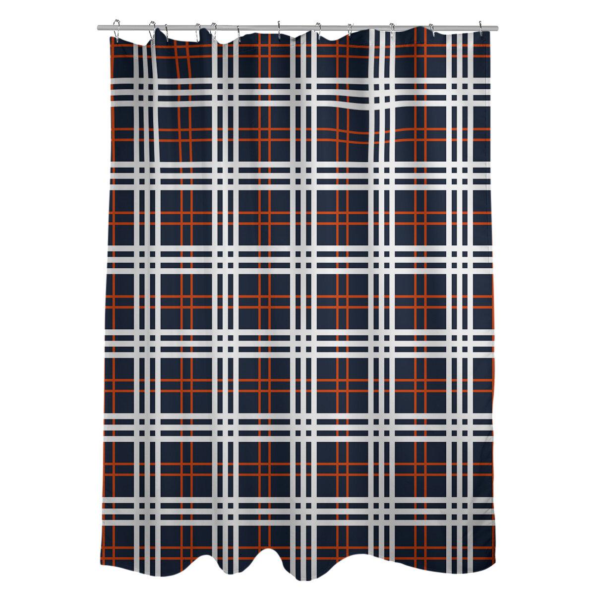 LEMOISTARS Football Team Shower Curtain for Bathroom with 12 Hooks Polyester Fabric Machine Washable Waterproof Shower Curtains 72 x 72 Inch