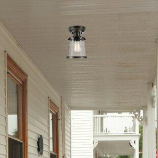 Birch Lane™ Heritage Jeffries LED Outdoor Semi Flush Mount