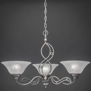 Thomason 3-Light Shaded Chandelier by Fleur De Lis Living
