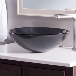 Read Reviews Frosted Glass Circular Vessel Bathroom Sink By Novatto