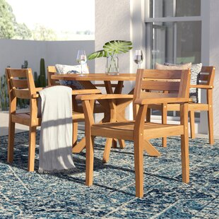Kaylie Wood 5 Piece Dining Set