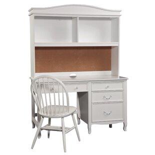 White desk with hutch Flat Pack Lilia Desk With Hutch Wayfair Girls White Desk With Hutch Wayfair