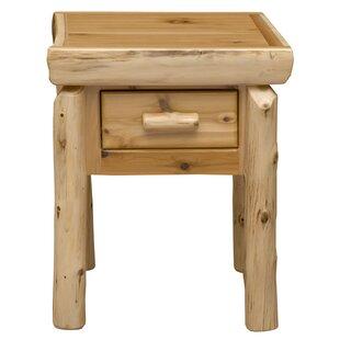Fireside Lodge Cedar 1 Drawer Nightstand