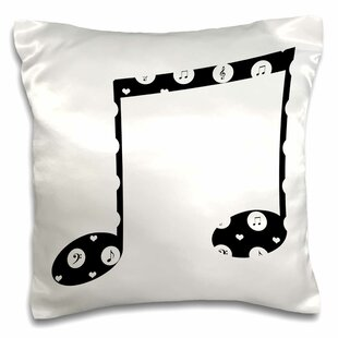 Musical Note Music Theme Art Pillow Cover