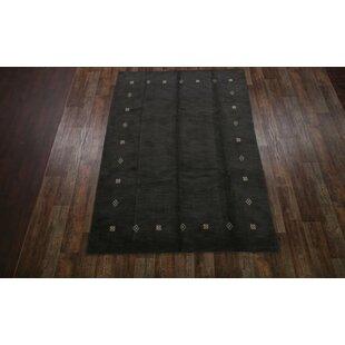 Top Reviews Seidman Oriental Hand-Woven Wool Black Area Rug ByBloomsbury Market