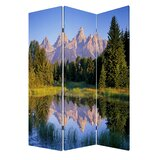 Guercio Mountain Peaks 3 Panel Room Divider byLatitude Run