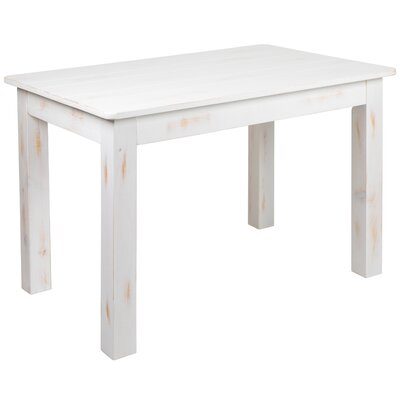 Febe Pine Solid Wood Dining Table by Gracie Oaks 2020 Sale