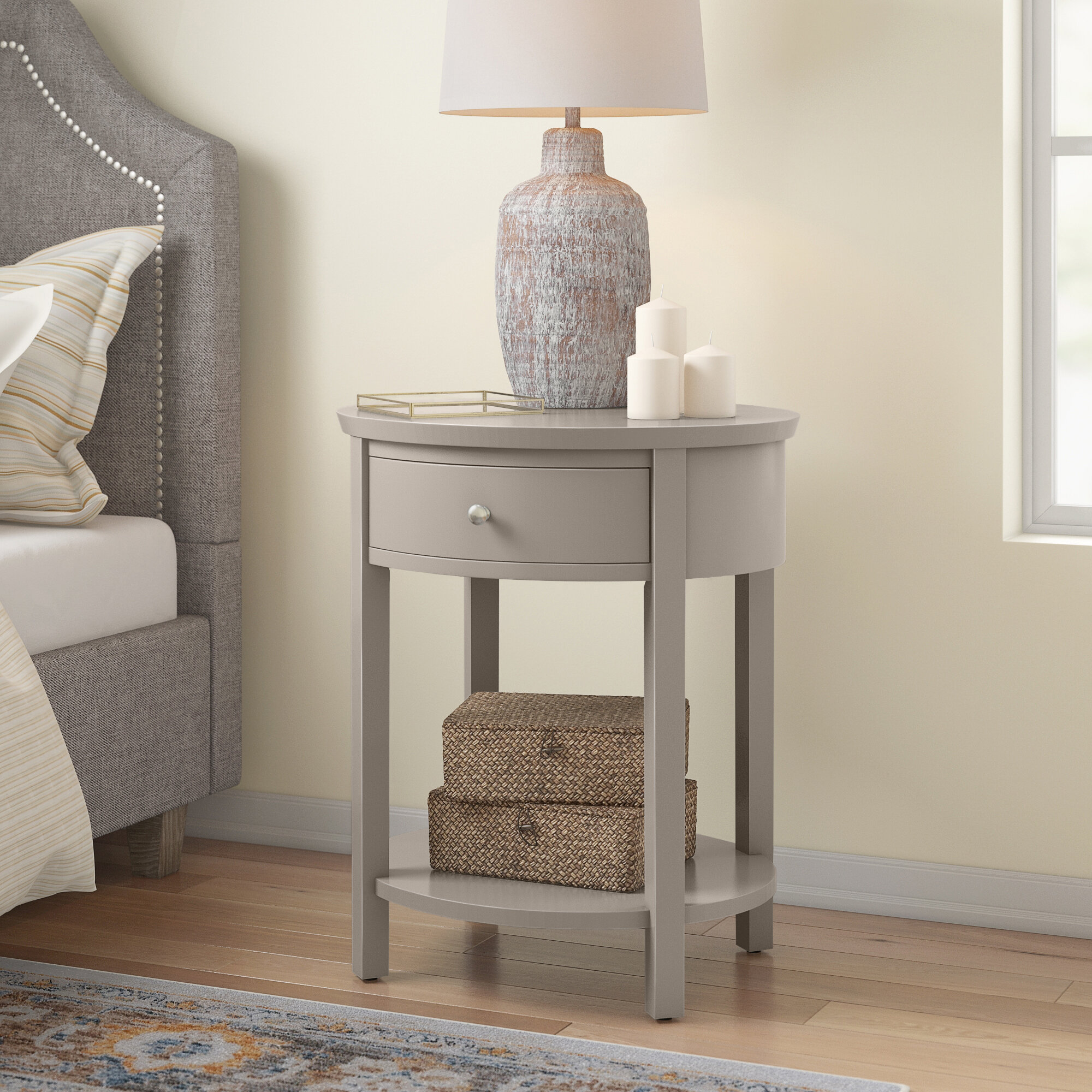 Three Posts Canterbury End Table With Storage Reviews Wayfair