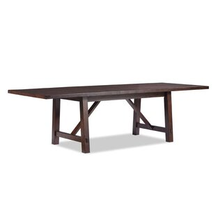Alexandria Trestle Extendable Dining Table By Loon Peak Black - Square trestle dining table