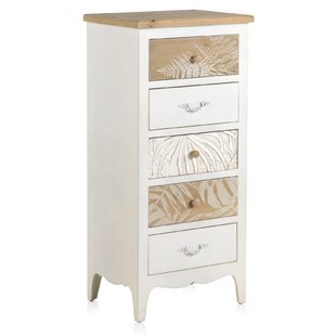 Ranjeeta Wooden 5 Drawer Chest By World Menagerie