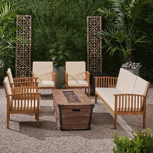 Olympia Outdoor 7 Piece Sofa Seating Group with Cushions