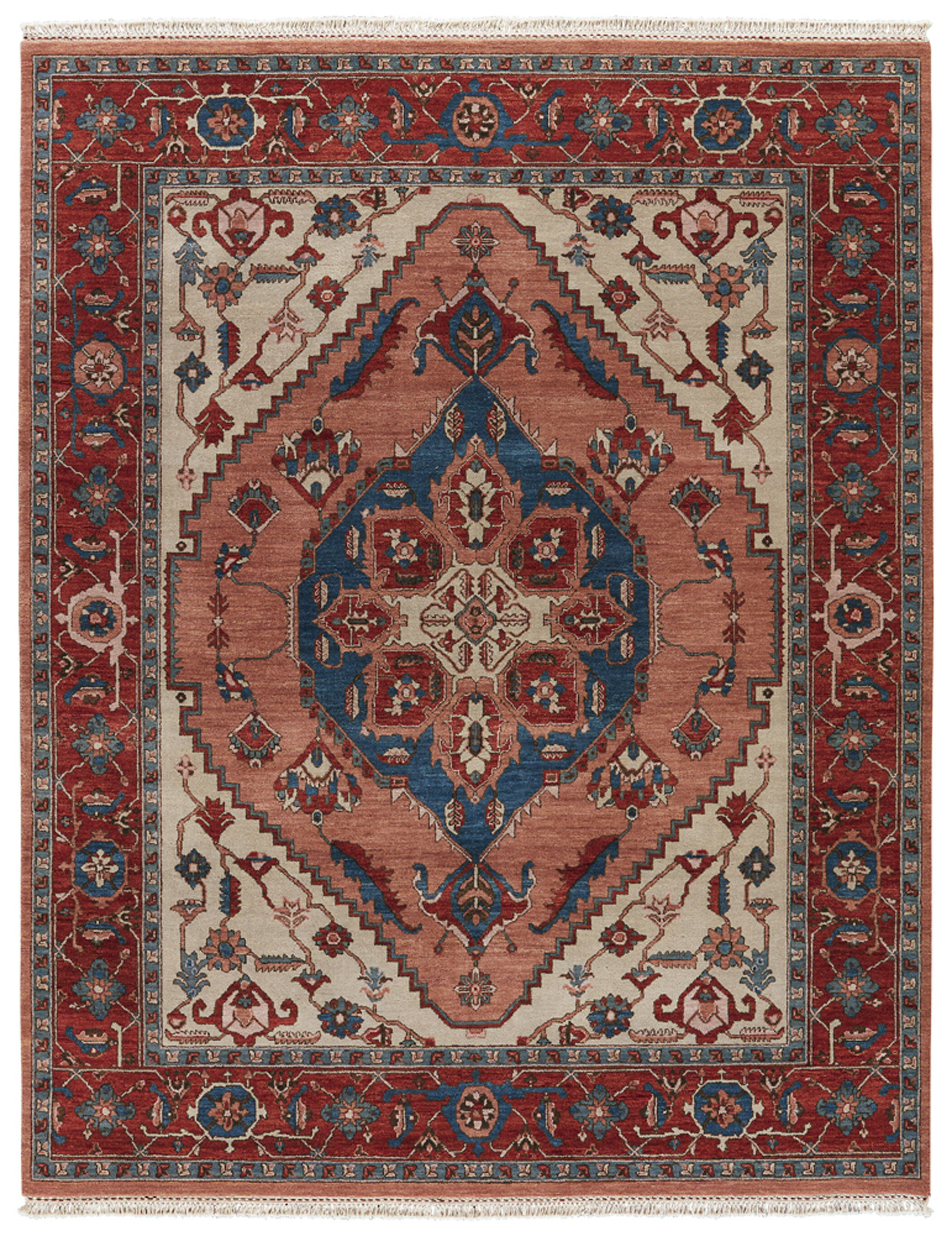 Jaipurliving Up Town By Artemis Avon Hand Knotted Red Ivory Area Rug Perigold