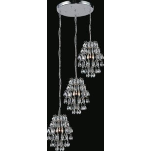 Charismatic 6-Light Cluster Pendant by CWI Lighting