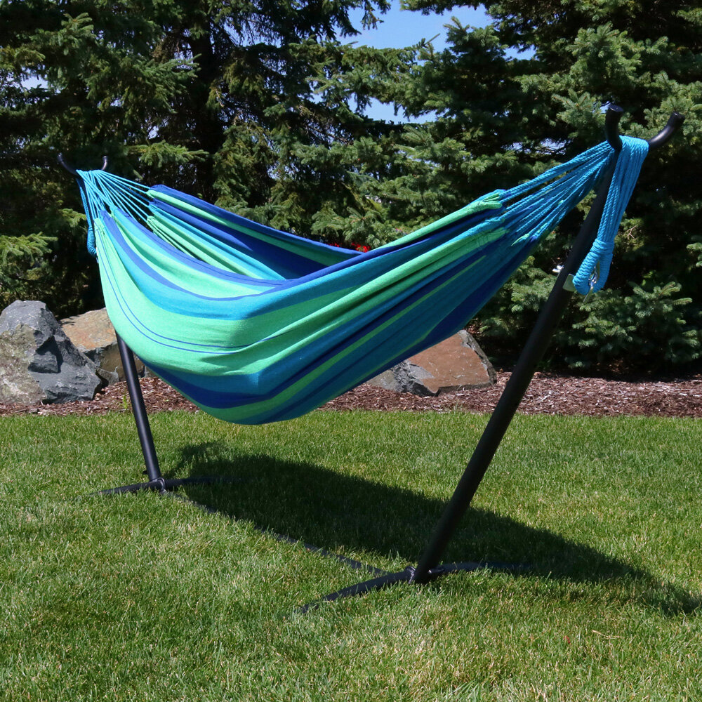 Arlmont Co Imogen Double Classic Hammock With Stand Reviews Wayfair