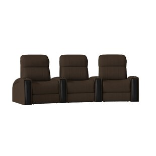 Latitude Run Contemporary Home Theater Curved Row Seating (Row of 3)
