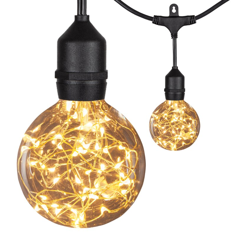 Arlmont Co Christiana 45 Outdoor 15 Bulb Globe String Light Wayfair