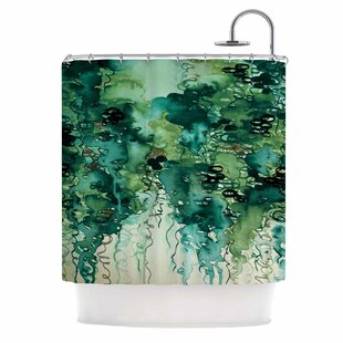 Inexpensive Ebi Emporium Beauty in the Rain Shower Curtain By East Urban Home