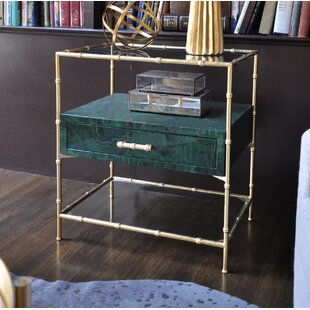 Bamboo Frame End Table by Worlds Away