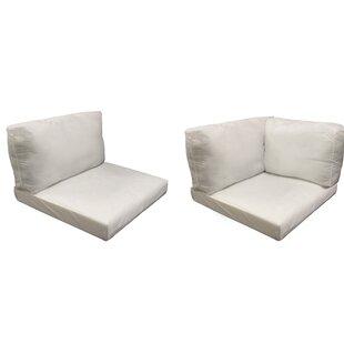 Monaco Outdoor 20 Piece Lounge Chair Cushion Set