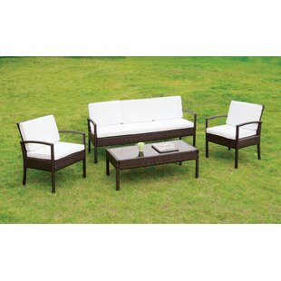 Cheryl 4 Piece Sofa Set with Cushions