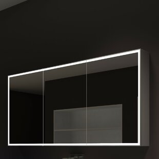 Compare prices Kristian 60 x 28 Surface Mount Medicine Cabinet with LED Lighting ByOrren Ellis