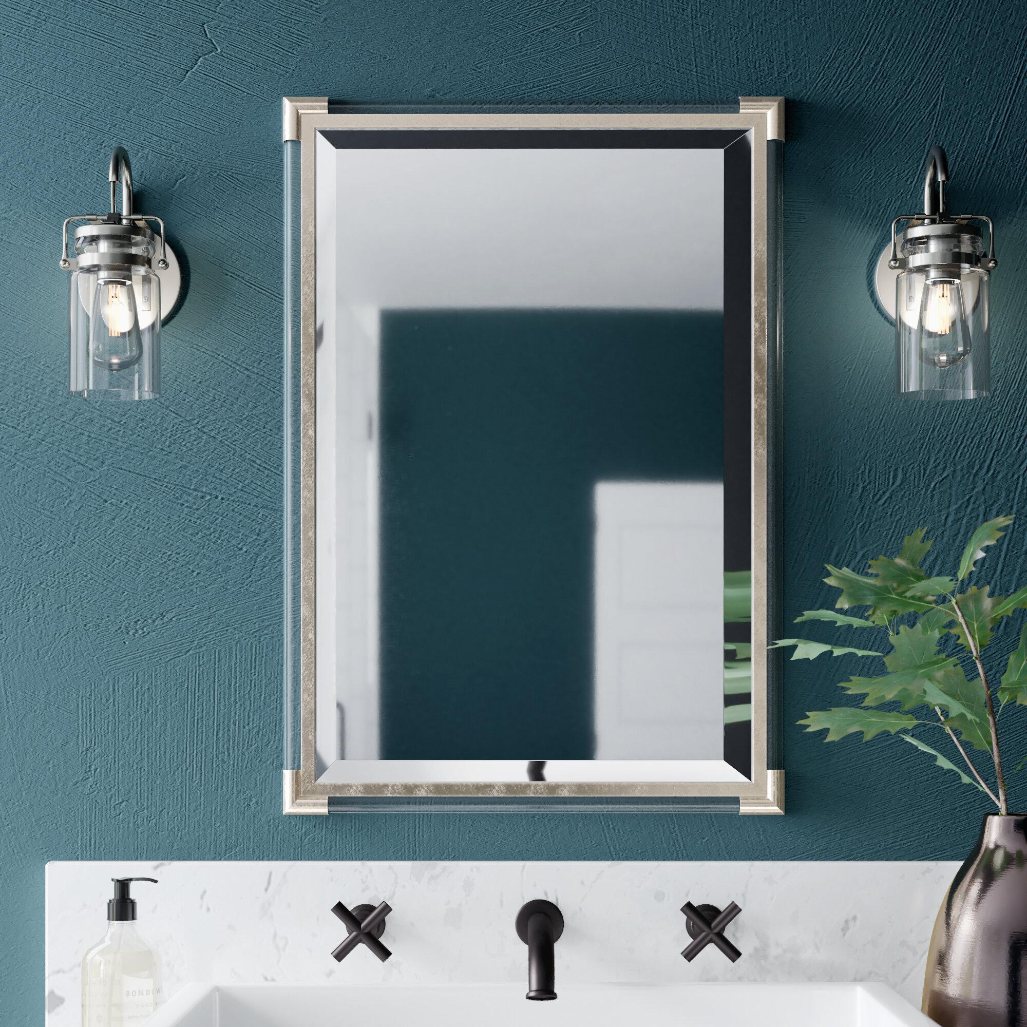 Marta Silver Frame Accent Wall Mirror