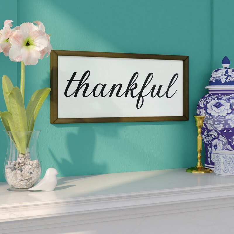 rustic thankful sign wall dcor