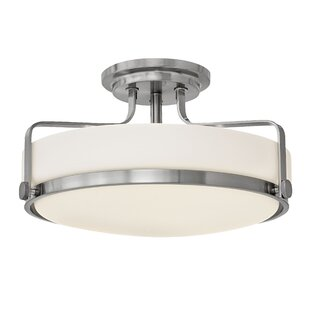 Compare prices Heliotrope 3-Light Semi Flush Mount By Laurel Foundry Modern Farmhouse