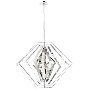 Lenna 6-Light Geometric Chandelier by Orren Ellis