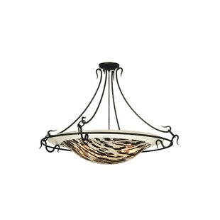Metro Fusion La Perla Nera 3-Light Semi-Flush Mount by Meyda Tiffany