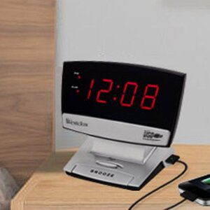 USB Charging Port Led Alarm Clock