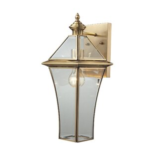 Reviews Dagostino 1-Light Outdoor Wall lantern By Darby Home Co