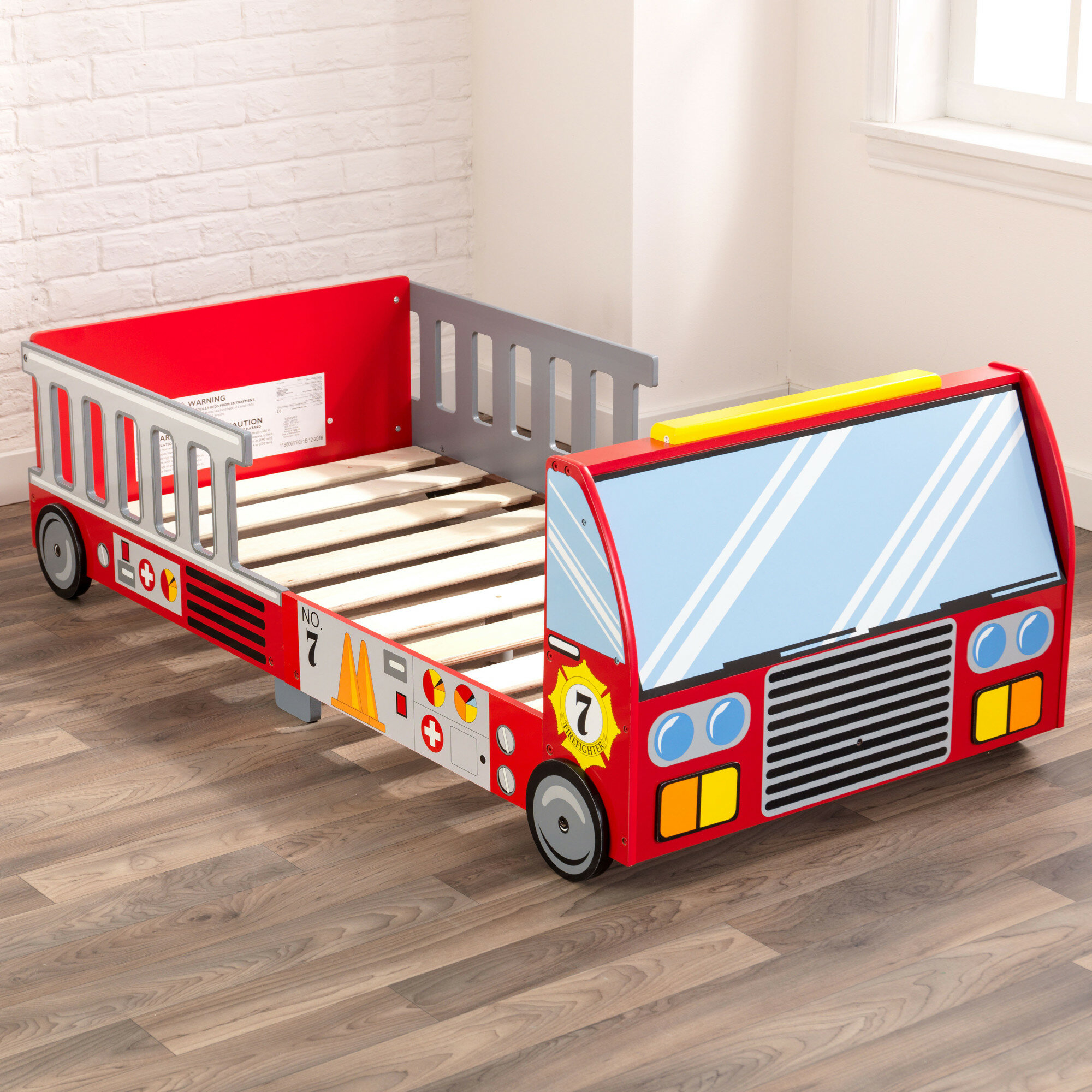 Kidkraft Firefighter Toddler Car Bed